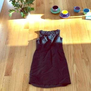 Talbots dress origami folded collar sleeveless